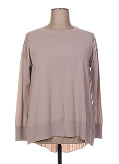 Pull col rond beige FINETTE pour femme