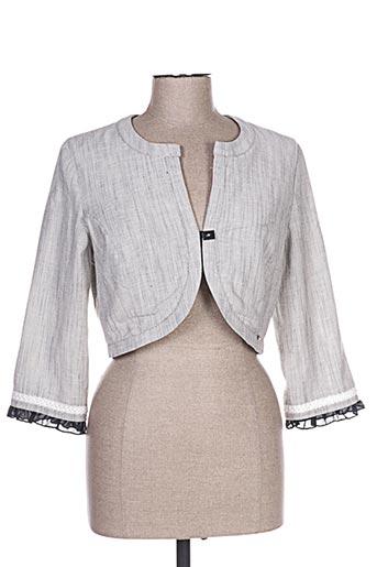 Veste casual gris ALICE ET BARNABE pour femme