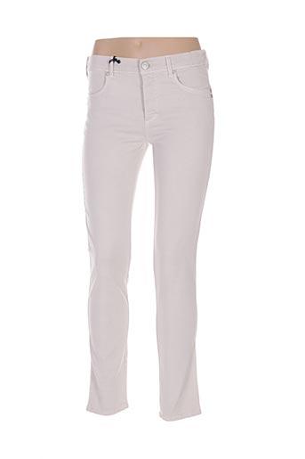 Pantalon casual beige ANGELIKA pour femme