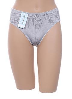 Slip/Culotte gris LEJABY pour femme