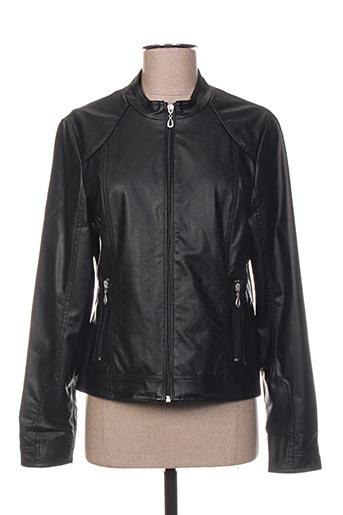 Veste simili cuir noir CONCEPT K pour femme