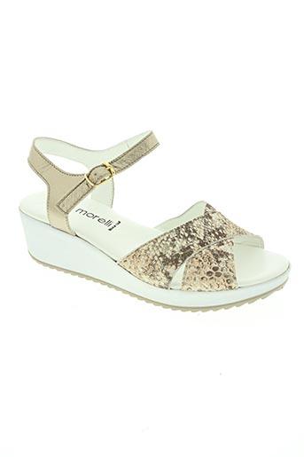 ilario morelli chaussures femme de couleur beige