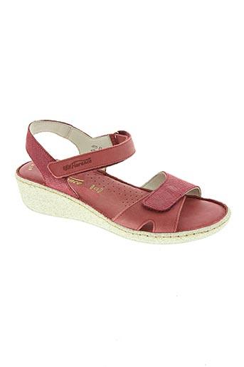 Sandales/Nu pieds rouge FLORANCE pour femme