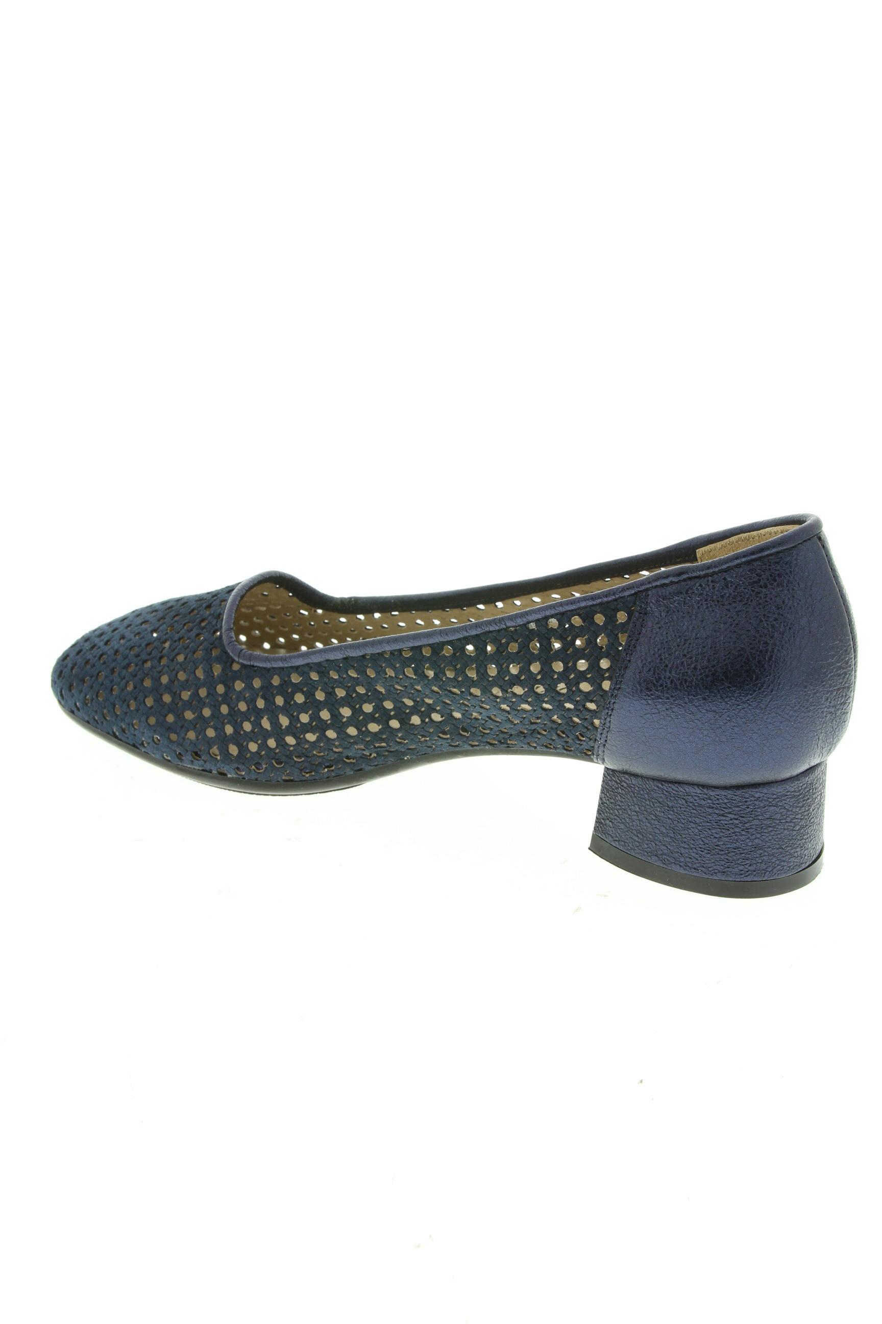 Confort Escarpins Femme De Couleur Bleu En Soldes Pas Cher 1290326-bleu00