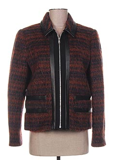 Manteau court marron PAUL SMITH pour femme