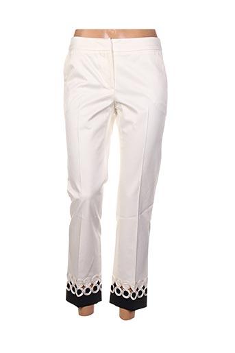 Pantalon 7/8 beige BLUE LES COPAINS pour femme