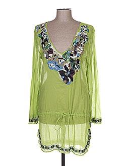 Robe courte vert EMAMO pour femme