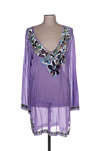 Robe courte violet EMAMO pour femme