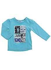 T-shirt manches longues bleu 3 POMMES pour fille seconde vue