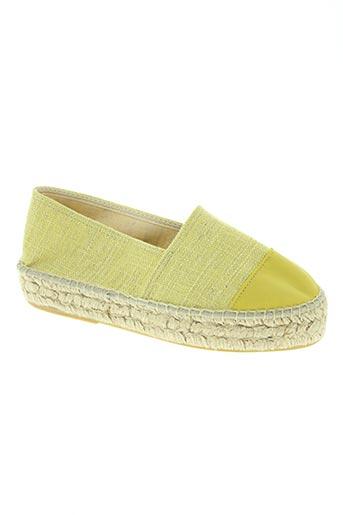 pölka chaussures femme de couleur jaune