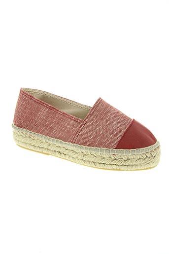 pölka chaussures femme de couleur rouge