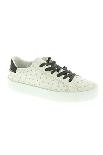 crime london chaussures femme de couleur blanc