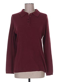 Pull col rond violet CHRISTA PROBST pour homme