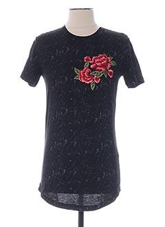 T-shirt manches courtes noir GOV DENIM pour homme