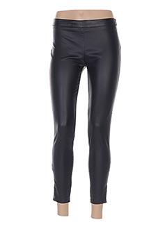 Pantalon 7/8 noir CINDY.H pour femme