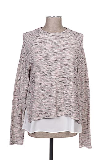 Pull col rond rose COTTON BROTHERS pour femme