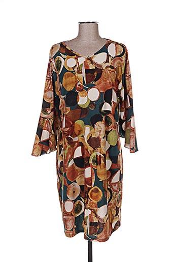Robe pull jaune GENUINE pour femme