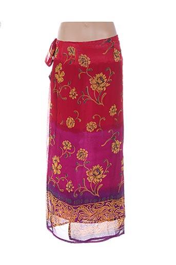 Jupe mi-longue rouge CANNA MELLIS pour femme
