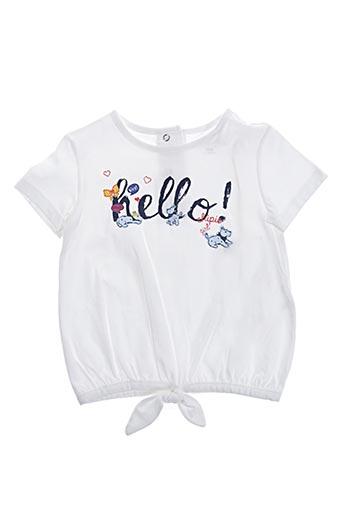 T-shirt manches courtes blanc CHIPIE pour fille