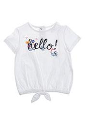 T-shirt manches courtes blanc CHIPIE pour fille seconde vue