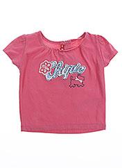 T-shirt manches courtes rose CHIPIE pour fille seconde vue