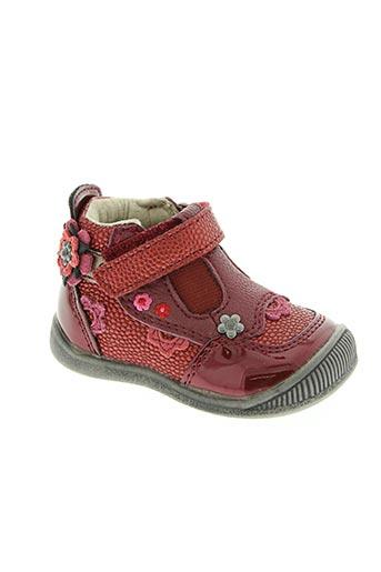 kouki chaussures fille de couleur rouge