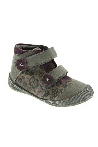 kouki chaussures fille de couleur gris