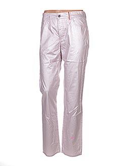 Jeans coupe droite rose COUTURIST pour femme