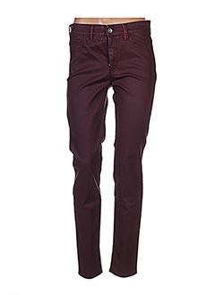 Jeans coupe slim rouge COUTURIST pour femme