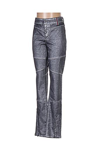 Jeans coupe slim gris COUTURIST pour femme