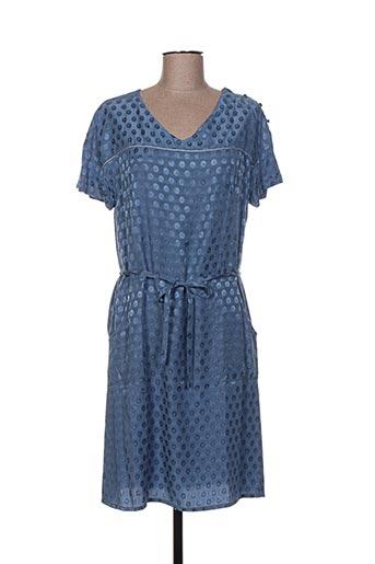 Robe mi-longue bleu GAËLLE BARRE pour femme