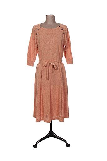 Robe mi-longue orange BRIC-A-BRAC pour femme