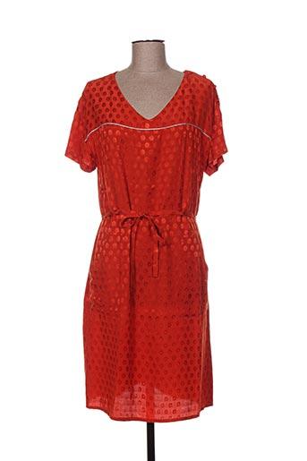 Robe mi-longue orange GAËLLE BARRE pour femme