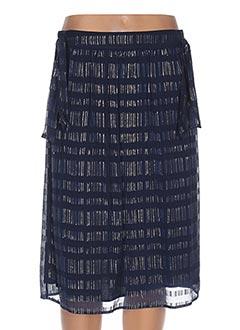Jupe mi-longue bleu INTROPIA pour femme
