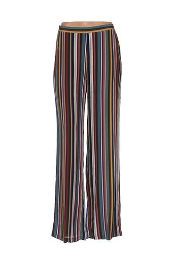 Pantalon casual marron BRIC-A-BRAC pour femme
