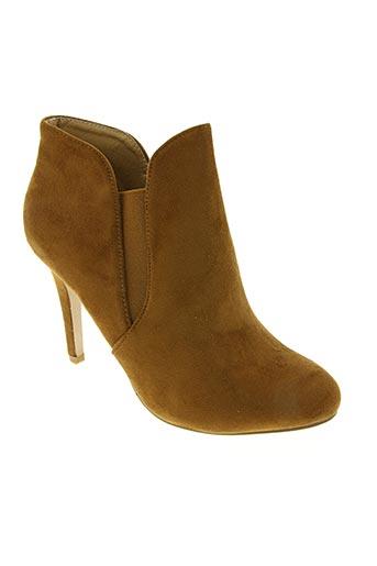 elong chaussures femme de couleur marron