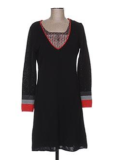 Robe pull noir LE PETIT BAIGNEUR pour femme
