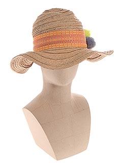 Chapeau orange BECK SONDERGAARD pour femme