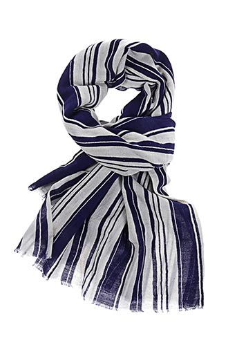Foulard bleu LOVAT & GREEN pour femme