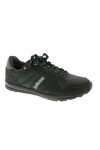 levis chaussures homme de couleur noir