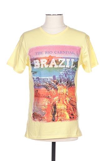 T-shirt manches courtes jaune GIL D'AURAY pour homme