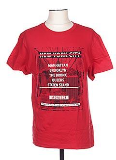 T-shirt manches courtes rouge CLIQUE pour homme