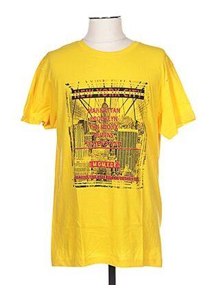 T-shirt manches courtes jaune CLIQUE pour homme