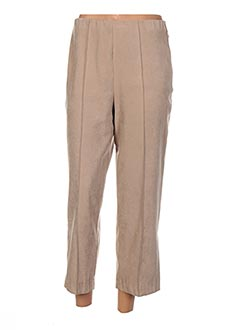 Pantalon 7/8 beige FICELLE pour femme