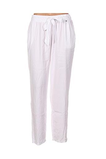 Pantalon casual blanc EGO pour femme
