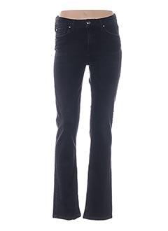 Jeans coupe droite noir MENSI COLLEZIONE pour femme