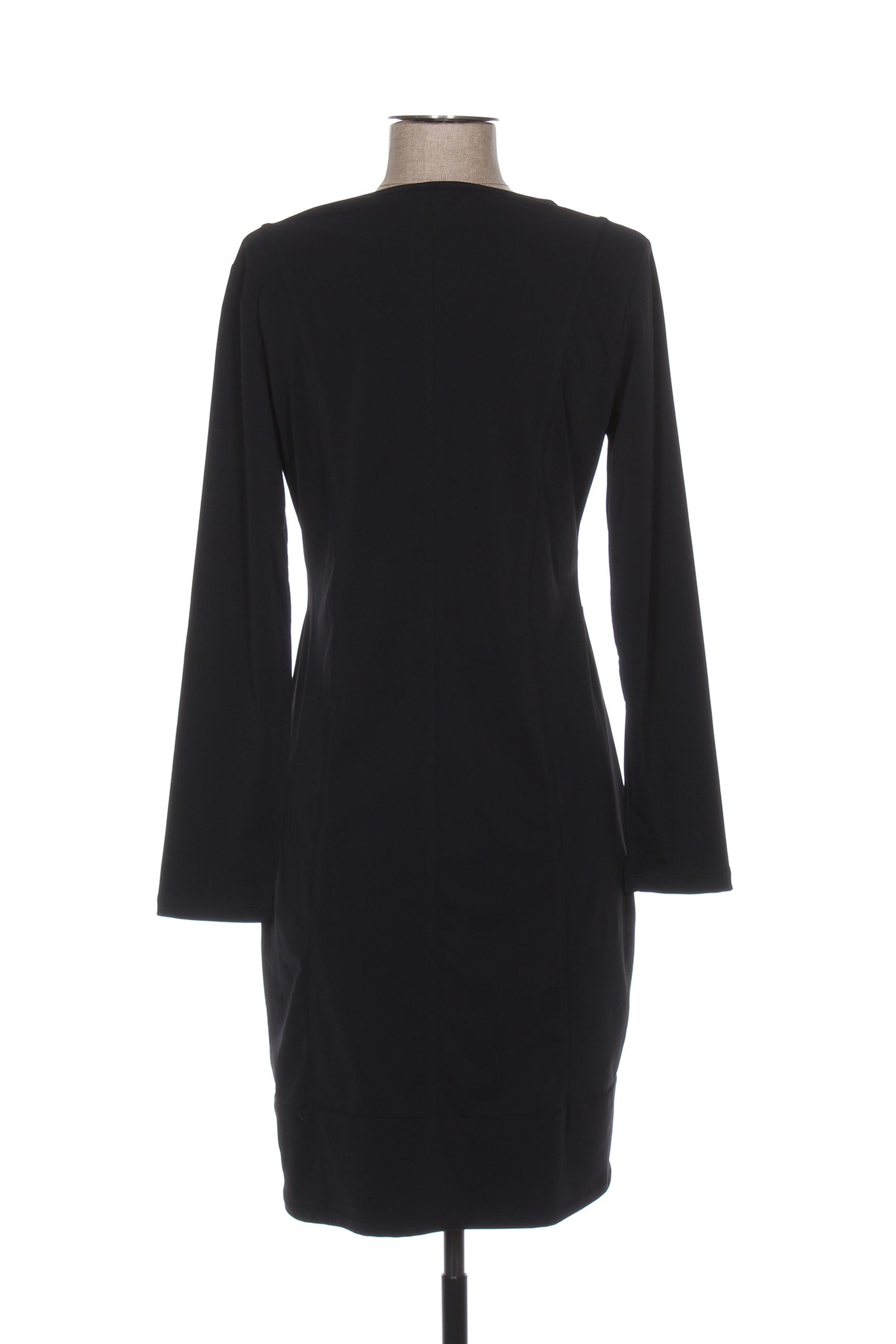 Maloka Robes Mi Longues Femme De Couleur Noir En Soldes Pas Cher 1298000-noir00