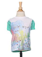 T-shirt manches courtes vert 3 POMMES pour garçon seconde vue