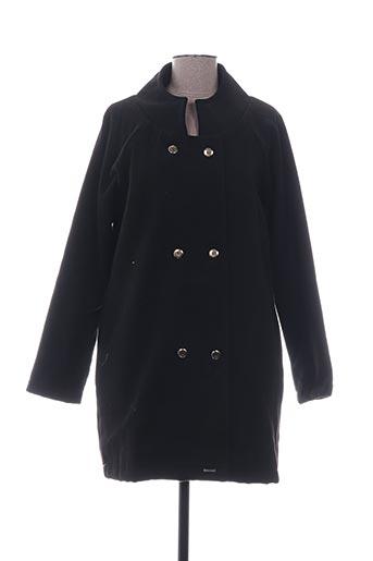 Manteau long noir COQUELICOT pour femme