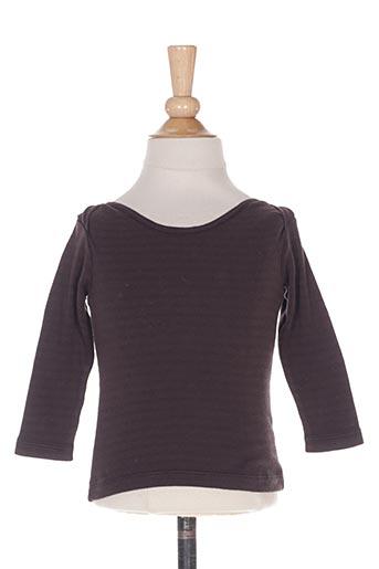 T-shirt manches longues marron BONTON pour garçon
